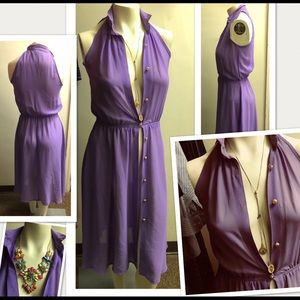 Very Sheer Dress or Coverup Purple Lilac